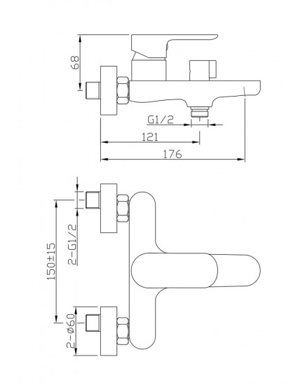 Agger A0293544 - Душевая система, черный цвет