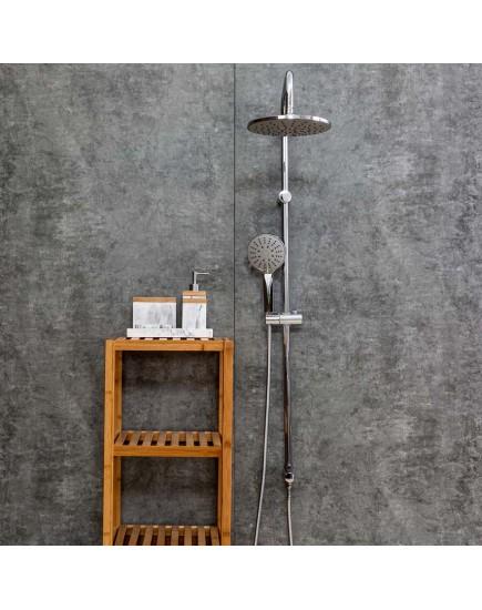 Agger Breeze A0193500 - Душевая система без смесителя с двумя лейками, хром