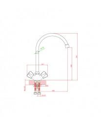 Agger Retro-S A1800000 - смеситель для кухни с поворотным изливом, хром