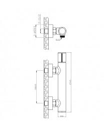 Agger Slim A2220000 - смеситель для ванны без излива, хром