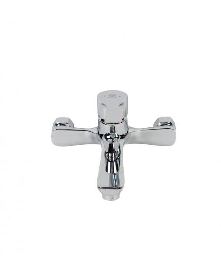 Agger Fine A1110000 - Однозахватный смеситель для ванной с коротким изливом, хром
