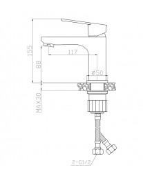 Agger Brave А2302100 - Однозахватный смеситель для раковины, хром