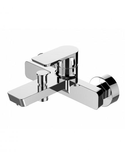 Agger Brilliant A0310000 - Однозахватный смеситель для ванной с коротким изливом, хром