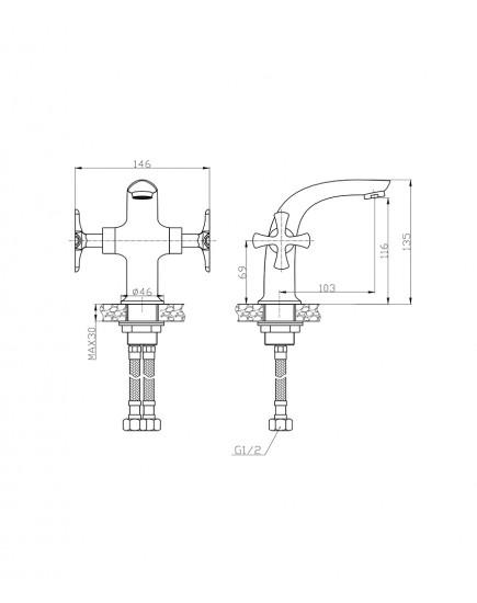 Agger Love A1002100 - смеситель для раковины, хром
