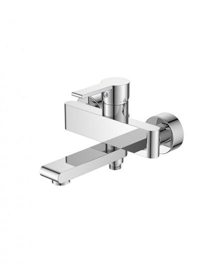 Agger Strong A1410000 - смеситель для ванны с душем и выдвижным изливом, хром
