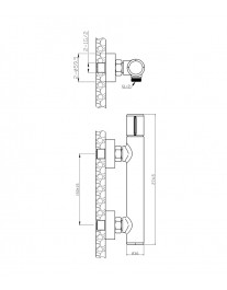 Agger Slim A2220000 - Однозахватный смеситель для ванны без излива, хром