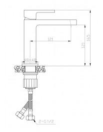 Agger Great A2802111 - Однозахватный смеситель с декором для раковины, хром
