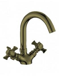 Agger Retro-X A1701188 Двухзахватный смеситель для раковины, бронза