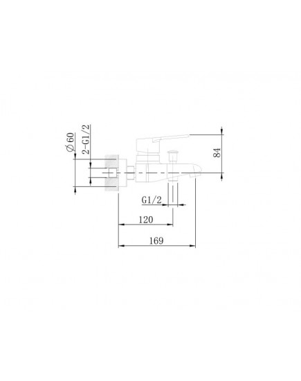 Agger A2994000 - душевая система со смесителем, хром