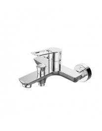 Agger Brave A2393500 - термостатическая душевая система со смесителем и тропическим душем, хром