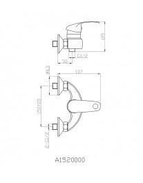 Agger Glad A1520000 - Однозахватный смеситель для ванны без излива, хром