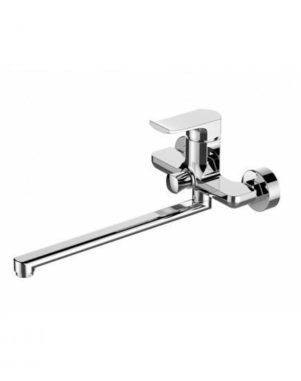 Agger Happy A0421100 - Однозахватный смеситель для ванны с душем и длинным поворотным изливом, хром