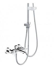 Agger Retro A1993300 - термостатическая душевая система со смесителем и тропическим душем, хром