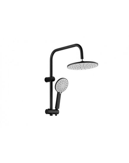 Agger A0293544- душевая система с тропическим душем и смесителем, черный цвет