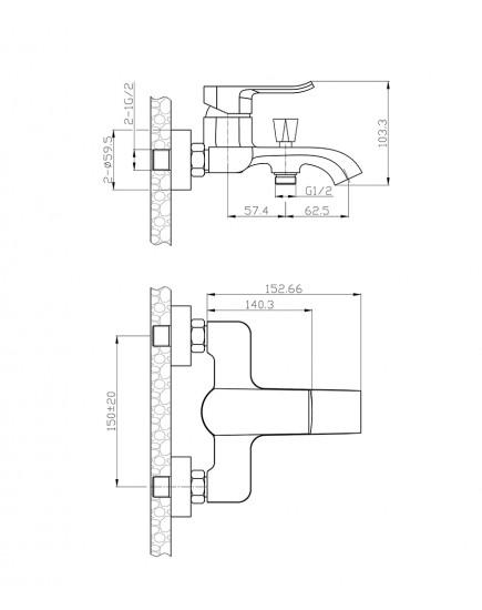 Agger Happy A0493500 - Душевая система, хром