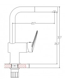 Agger Gorgeous A0200600 - Однозахватный смеситель для кухни с поворотным изливом, хром