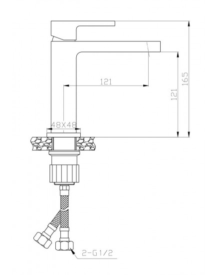 Agger Great A2802111 - смеситель для раковины однозахватный, хром