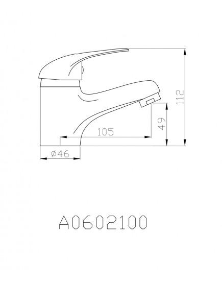 Agger Move A0602100 - Однозахватный смеситель для раковины, хром