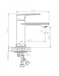 Agger Clean A2402100 - однозахватный смеситель для раковины, хром