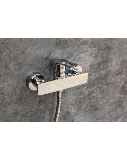 Agger Brave A2392200 - душевая система со смесителем без излива и тропическим душем, хром