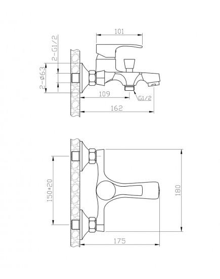 Agger Fine A1131100 - Душевая система