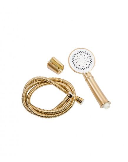 Agger Retro-X A1721288 - смеситель для ванной с коротким поворотным изливом и душевым набором, бронза