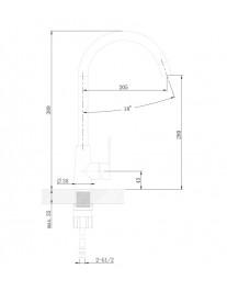 Agger Splendid A0900133 - смеситель для кухни с поворотным изливом, никель