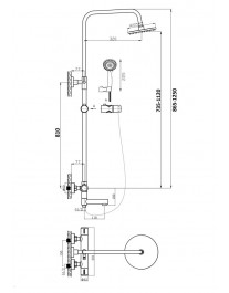 Agger Thermo A2461144 - Душевая система, черный цвет