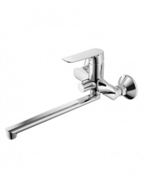 Agger Nice A2521100 - Однозахватный смеситель для ванны с душем и длинным поворотным изливом, хром
