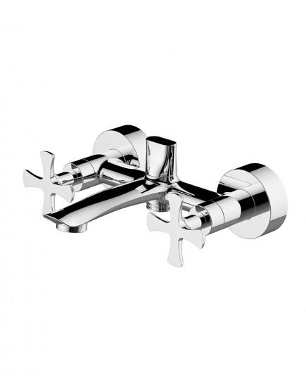 Agger Love A1010000 - Двухзахватный смеситель для ванны с коротким изливом, хром