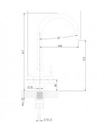 Agger Zest A0700744 - смеситель для кухни с фильтром и поворотным изливом, черный