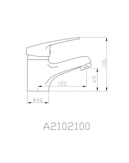 Agger Exact A2102100 - смеситель для раковины однозахватный, хром