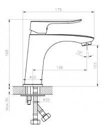 Agger Nice A2502100 - однозахватный смеситель для раковины, хром