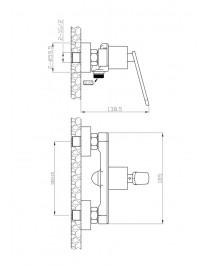 Agger A2620000 - однозахватный смеситель для душа, хром
