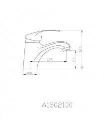 Agger Glad A1502100 - смеситель для раковины однозахватный, хром
