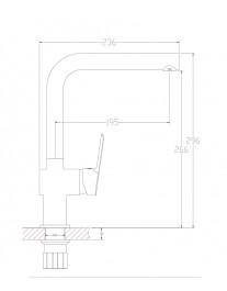 Agger Strong A1400100 - смеситель для кухни с поворотным изливом, хром