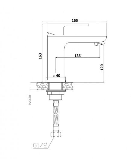 Agger Gorgeous A0202100 - смеситель для раковины однозахватный, хром