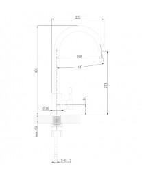Agger Zest A0701100 - Однозахватный смеситель для кухни с поворотным изливом, хром