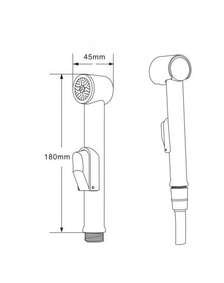 Agger AHYG01 - гигиенический душ для унитаза с держателем