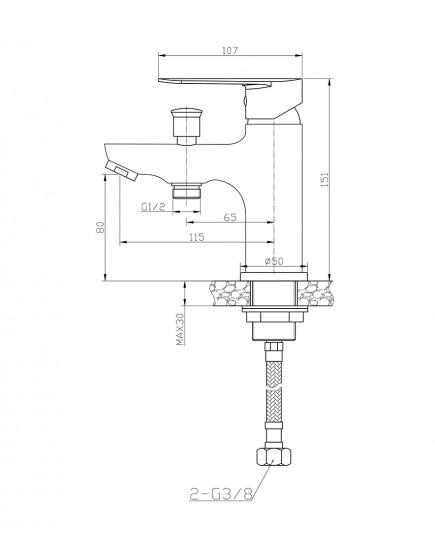 Agger Splendid A0902500 - смеситель на борт ванны, хром