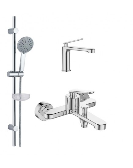 Agger Beauty A2631100 - душевой комплект для ванной 3x1, хром