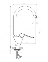 Agger Nice A2500200 - смеситель для кухни с поворотным изливом, хром