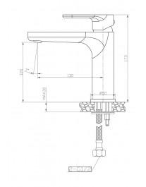 Agger Gorgeous A0202144 - смеситель для раковины однозахватный, черный