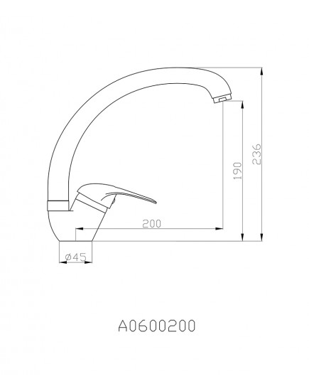 Agger Move A0600200 - смеситель для кухни с поворотным изливом, хром
