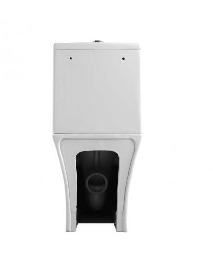 Agger AT01000 - Напольный унитаз-компакт безободковый, пристенный с горизонтальным выпуском