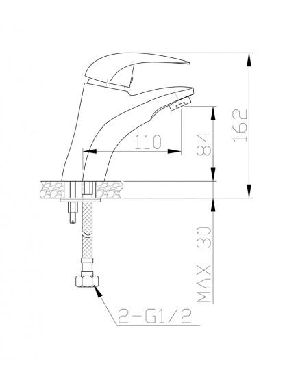 Agger Proud A0802100 - Однозахватный смеситель для раковины, хром