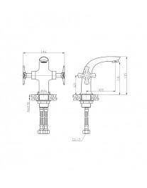 Agger Love A1002100 - Двухзахватный смеситель для раковины, хром