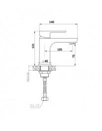 Agger Brilliant A0302100 - смеситель для раковины однозахватный, хром