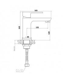 Agger Gorgeous A0202100 - Однозахватный смеситель для раковины, хром