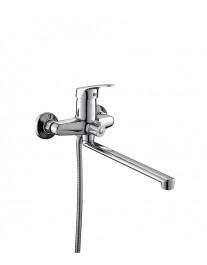 Agger Exact A2121100 - Однозахватный смеситель для ванны с душем и длинным поворотным изливом, хром